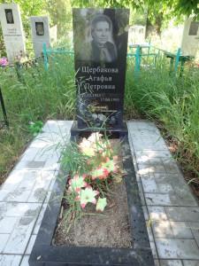Памятник один ряд плитки