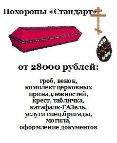 Похороны. Цены